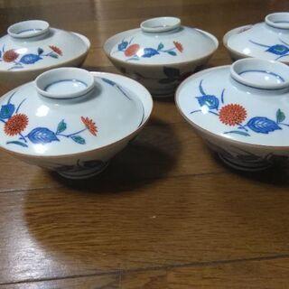 新品、有田焼の蓋付きご飯茶碗5個セットです🍚の画像