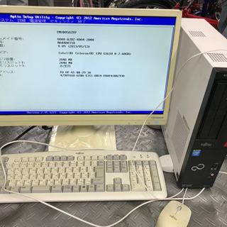 デスクトップパソコンフルセット ワイドモニター 富士通 FMV ...