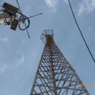 アマチュア無線のタワー アンテナ 解体します。