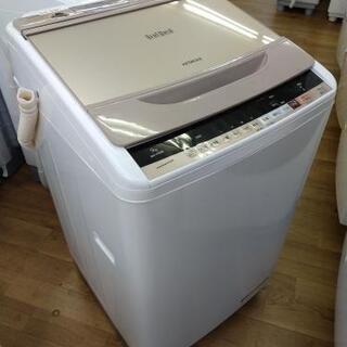 J005★1年保証★9K洗濯機★HITACHI BW-V90B(N) 2017年製  - 売ります・あげます