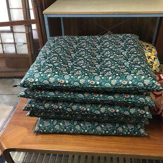 【2/24再値下】高級座布団 5枚セット カバー・収納袋つき