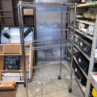 ルミナス 3段 キャスター付 スチールラック 収納棚 オープンラックの画像