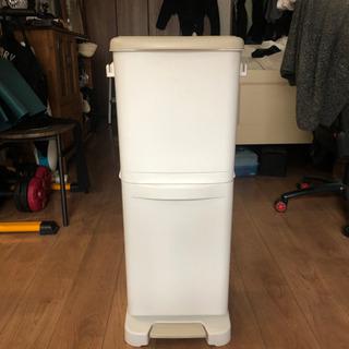 【ネット決済】30L 2口 ペダル式ゴミ箱