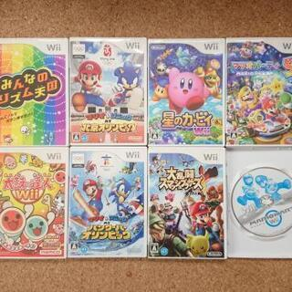 wiiソフト8本 + 太鼓コントローラー