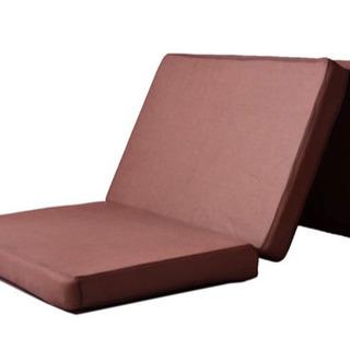 シングル マットレス ベッド 高反発 三つ折り 布団ブラウン ほ...