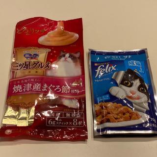 猫用パウチ(キャットフード)&銀のスプーンおやつセット