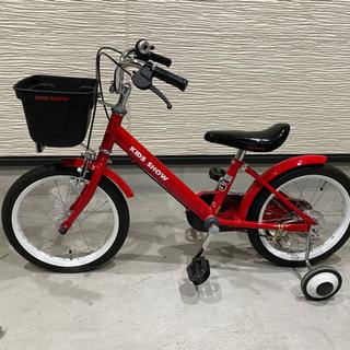 子供用自転車 補助輪付 16インチ - 京都市