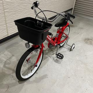 子供用自転車 補助輪付 16インチの画像
