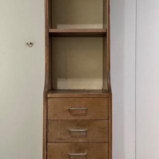 昭和モダンの木製本棚、30センチ幅