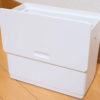 扉に掛けるスライド蓋付きゴミ箱(ほぼ新品)