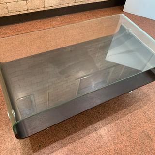 S05 中古 ガラス 天板 センターテーブル 机 テーブル…