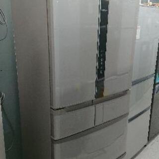 【クリーニング&動作確認済】日立475L6ドア冷凍冷蔵庫「R-F...