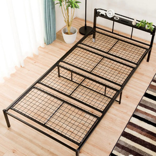 ニトリ シングルパイプベッド(バジーナC2/CV2 BK) - 家具