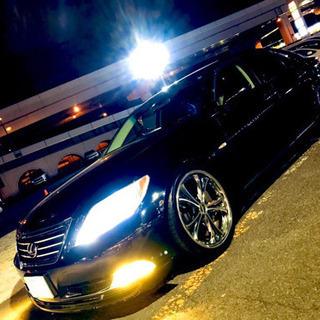 美車 レクサス LS460 ブラック サスコン 社外アルミ…
