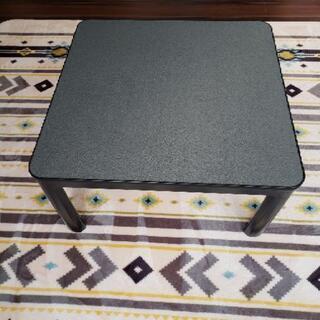 山善 こたつ(75cm正方形) 天面リバーシブル ブラック