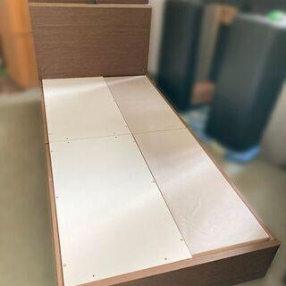 NITORI/ニトリ シングルベッド カイトシリーズ ミドルブラウン 98×210×90cm 【自社配送は札幌市内限定】倉庫保管の画像