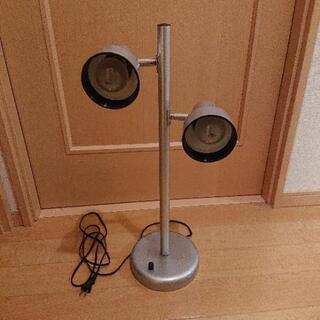電気スタンド   ダイヤル調光式  シルバー
