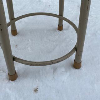 木目の綺麗な丸椅子 スツール チェア 高さ46cm - 売ります・あげます
