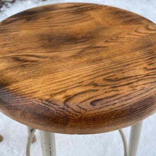 木目の綺麗な丸椅子 スツール チェア 高さ46cmの画像
