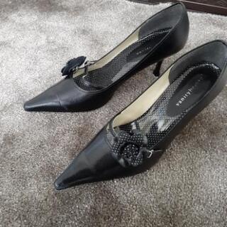 vanitybeauty ハイヒール 黒 24.5cm