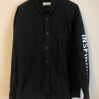 メンズ ブラックシャツ