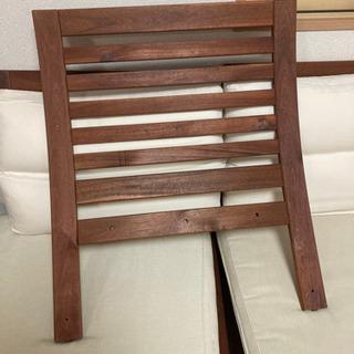 ソファ 木製 3人用 - 家具