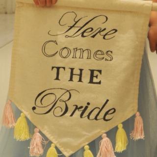 値下げ中!ウエディングフラッグ手作り 結婚式装飾 練習用あり