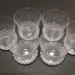 フランス産 クリスタルガラス製 ロックグラス6客 新品未使用