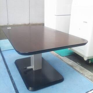 ☆中古 激安!! 上下調節式テーブル  高さ調節可能 ブラウン ...