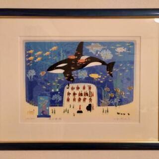 【終了】吉岡浩太郎氏 魚の楽園 絵画