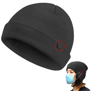 ニット帽 レディース メンズ 秋冬 保温防風 ボタン付き …