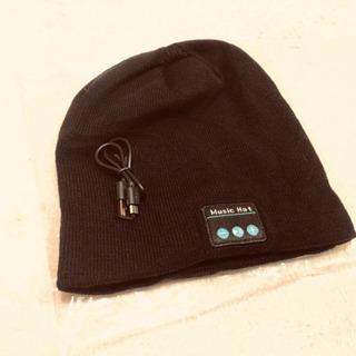 最新!Bluetoothニット帽★BluetoothV5.0 +...