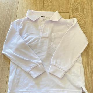 フォーマルにも白ポロシャツ 110
