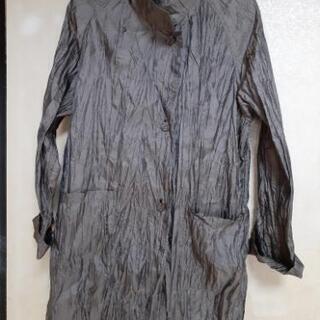 【ネット決済】皺加工の薄手の二枚重ねハーフコート