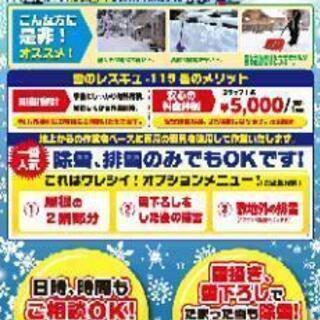 排雪・雪降ろし5,000円~/1時間×2人 秋田横手湯沢方面青森