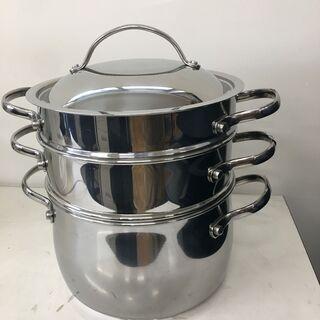 【値下げしました。】マイヤー スチーマー&パスタセット 三段式両手鍋