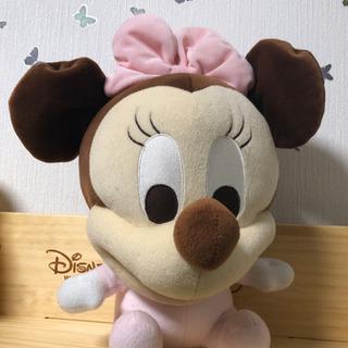 【ディズニー】ディズニーベビーぬいぐるみ【ミニー】の画像