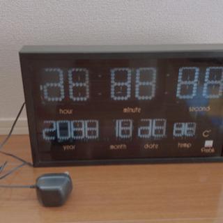 【ネット決済】青色LED 時計