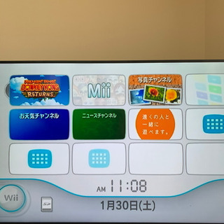 【ネット決済】wii本体+ソフト3点+マリオカート用ハンドル2点