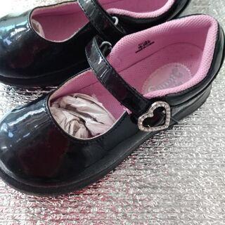 フォーマルエナメル靴 女の子 キャロット