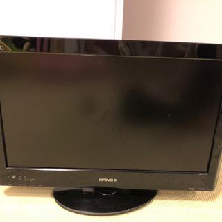 取引中 日立 液晶テレビ Wooo 22型 リモコン不能