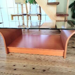 [取引相手決定][配達無料][即日配達も可能?]コーヒーテーブル ガラステーブル 辻製作所製の画像