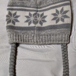 雪の結晶柄❄ニット帽②👒🎩🎓