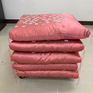引取場所 南観音 2101-091 座布団 5枚セット ピンク ...