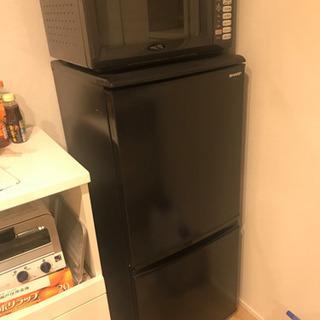 【取引中】冷蔵庫 黒 一人暮らし SHARP SJ-14S-B