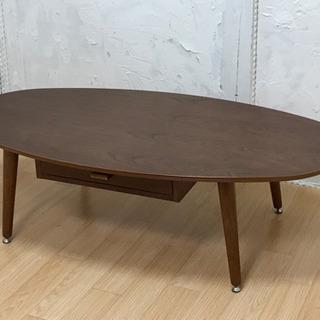 ニトリ 引き出し付き楕円形センターテーブル サリー120 …