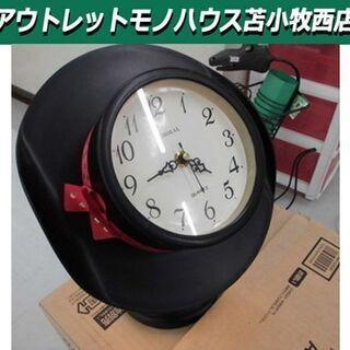 タッチパネル付き置き時計 可愛い置き時計 時計 幅:約24cm ...