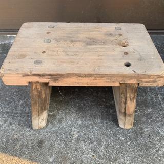 昭和レトロ、風呂椅子、木製