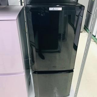 〈〉MITSUBISHI 三菱 2ドア 冷蔵庫 ブラック MR-...
