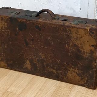 アンティーク 革製旅行鞄